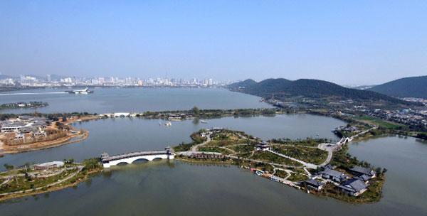 徐州当地风景图片-徐州云龙湖